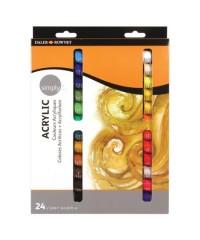 Набор акриловых красок Simply 24 цвета, Daler rowney