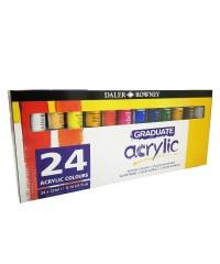 Набор красок акриловых Daler-Rowney GRADUATE 22мл, 24 цвета