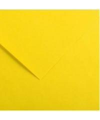 Бумага цветная Iris Vivaldi 240г/м.кв 50*65см №04 Желтый канареечный, 200040357