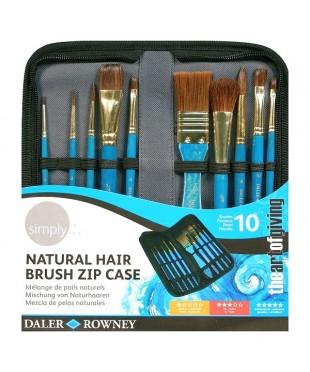 216919010 SIMPLY Набор кистей синтетика/натуральный волос, короткая ручка. DALER ROWNEY