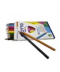 Цветные утолщенные карандаши GIOTTO MEGA-TRI, толщ. грифеля 5,5мм, 12 цв., 220600