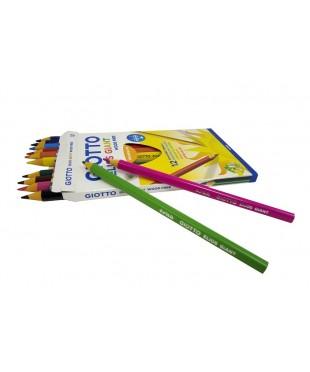 Утолщенные полимерные цветные карандаши GIOTTO ELIOS GIANT, 12 шт., 221500