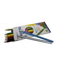 Цветные карандаши гексагональной формы GIOTTO MEGA, утолщенные.8 цв., 225400