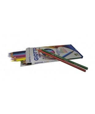 GIOTTO STILNOVO ACQUARELL AST Цветные гексагональные акварельные деревянные карандаши, 12 цветов