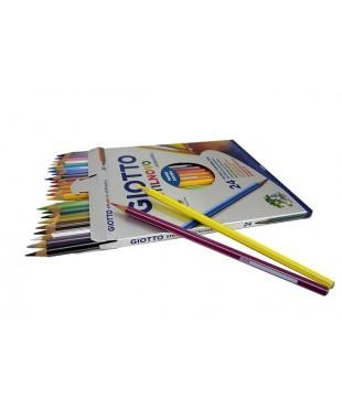 Цветные гексагональные акварельные карандаши GIOTTO STILNOVO ACQUARELL AST,  24 цвета