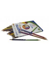 Цветные двусторонние гексагональные карандаши GIOTTO STILNOVO BICOLOR,  18шт=36цв.    257200