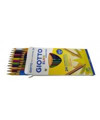 Цветные пластиковые карандаши Giotto Elios Tri,  24шт., 275900