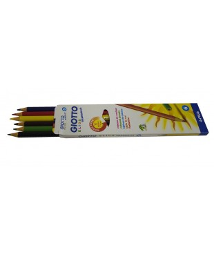 Цветные пластиковые карандаши Giotto Elios Tri  6шт., 276000