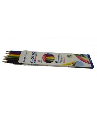 Цветные деревянные карандаши GIOTTO COLORS 3.0 , 6 шт., 276800