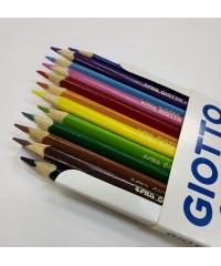 Цветные акварельные деревянные карандаши GIOTTO COLORS 3.0, 12 шт. треугольной формы