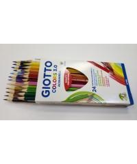Цветные акварельные деревянные карандаши GIOTTO COLORS 3.0, 24 шт. треугольной формы