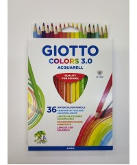 Цветные акварельные деревянные карандаши GIOTTO COLORS 3.0, 36 шт. треугольной формы, 277300