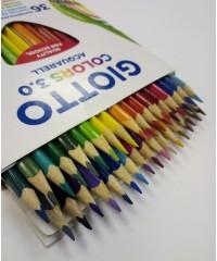 Цветные акварельные деревянные карандаши GIOTTO COLORS 3.0, 36 шт. треугольной формы