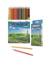 """Набор гексагональных карандашей цветных Lyra """"Graduate"""" 24 цв, в картонной упаковке"""