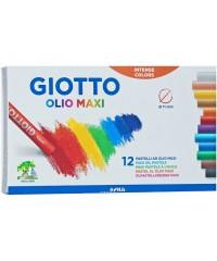 Масляная пастель GIOTTO OLIO в индивидуальной рубашке,  12 цв., 293000