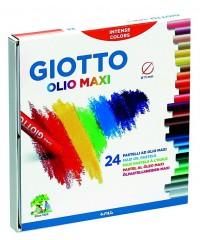 Масляная пастель GIOTTO OLIO в индивидуальной рубашке, 24 цвета
