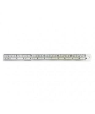 Линейка Attache 30 см металлическая 35821