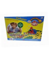Детский набор для лепки DIDO Treno, 395600 паста 10*50гр, формы, стеки, клеенка, вспомог. материалы