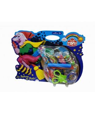 Детский набор д/лепки DIDO La Befana 397600  паста 9шт*50гр, стеки, ножницы, трафарет