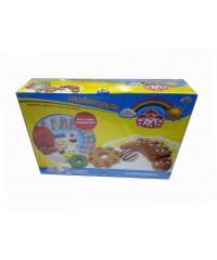 Детский набор для творчества Кондитер DIDO , паста 10*50гр , формочки,наклейки+вспомог. материал, 398300
