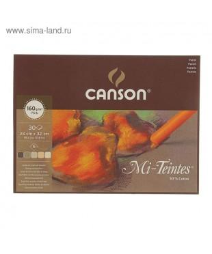Альбом для пастели Mi-Teintes Touch 350г/м.кв 24*32см 12л 4 цв. склейка по 4 сторонам  200005424
