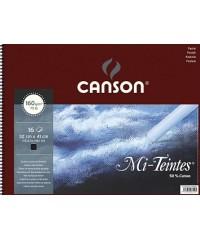 Альбом для пастели Mi-Teintes 160г/м.кв 32*41см 16л №425 черный спираль 40030228