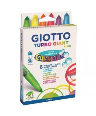 """Набор флуоресцентных фломастеров """"Turbo Giant"""", 6 цветов"""