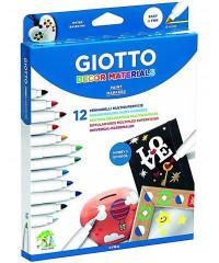 Фломастеры 12 цветов для декора Giotto Decor Material