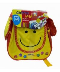 "Детский набор-рюкзак ""Овечка"", Giotto be-be,  465500  фломастеры, воск. мелки, раскраска"