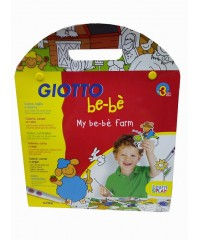 Набор фломастеров Giotto be-be 12шт с раскраской, 465600