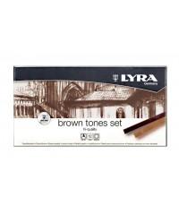 """Набор сухой пастели Lyra """"Polycrayons Pastel"""" 12 цветов, коричневые оттенки"""