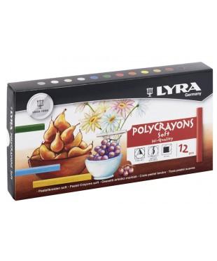 """Набор сухой пастели Lyra """"Polycrayons Pastel"""" 12 цветов"""