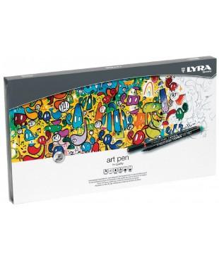 """Набор фломастеров Lyra """"Art Pen"""" 40 цветов, акварельные в металле"""
