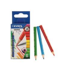 Цветные карандаши,треуг. сечение LYRA OSIRIS Shot 6цв. , L2501060