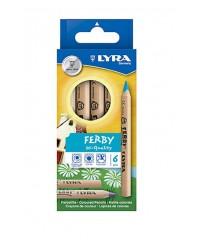 Цветные карандаши LYRA Ferby Nature,  6цв, натуральное дерево. L3611060