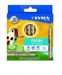 Цветные деревянные карандаши LYRA FERBY natur 12 цв., L3611120