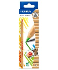 Цветные карандаши LYRA FERBY NATURE, натуральное дерево, 6цв.,L3711060