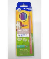 Цветные карандаши утолщ.,LYRA SUPERFERBY PASTEL 6цв., L3721065