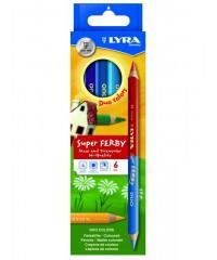 Двусторонние цвет. карандаши LYRA SUPERFERBY DUO BICOLOR  , утолщенные, 6 цв., L3791069