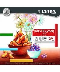 Пастель сухая LYRA POLYCRAYON,24 цв., L5651240
