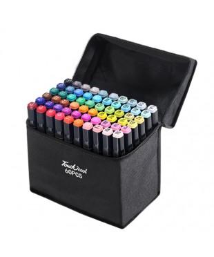Набор двусторонних спиртовых маркеров, 60 штук. Touch 60pcs
