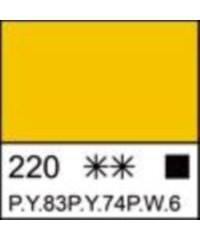 2223220 ЛАДОГА Акрил желтая средняя, 220 мл