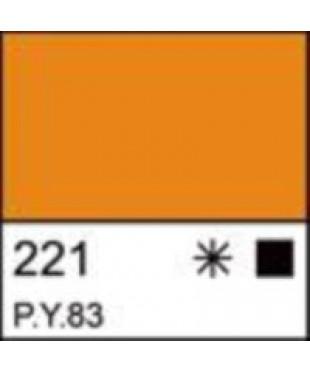 Акрил ЛАДОГА 2223221 желтая темная, 220 мл