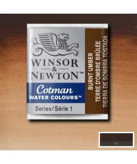 0100076 Акварель Winsor&Newton Cotman, Burnt umber,1/2 кювета