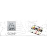 Набор акварелиWinsor&Newton Artists  0193548  Black Box, 12 цветов металл