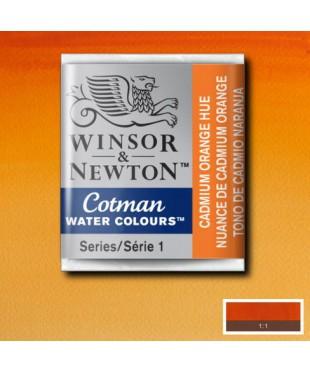 0301090 Акварель Winsor&Newton Cotman, Cadmium orange hue , 1/2 кювета