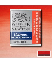 0301095 Акварель Winsor&Newton Cotman, Cadmium red hue  , 1/2 кювета