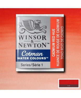 Акварель Winsor&Newton Cotman   0301095  Cadmium red hue  , 1/2 кювета