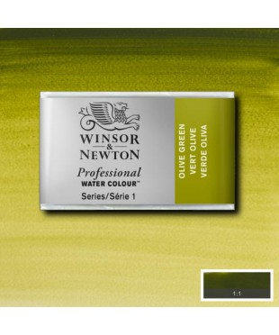 0100447 Акварель Winsor&Newton Artist's, Olive green, кювета