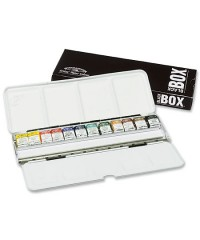 0193548 Winsor&Newton Набор акварели Artists, Black Box, 12 цветов металл